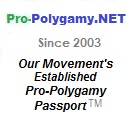 Order Your Pro-Polygamy Passport ™